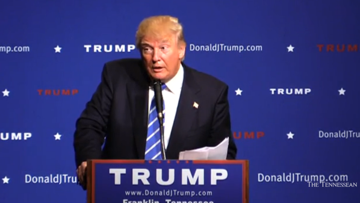 Donald Trump speaks in Franklin, Tenn. Saturday Oct.