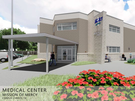 Work continues on the 14,700-square foot Mission of Mercy Medical Center, shown in this rendering.
