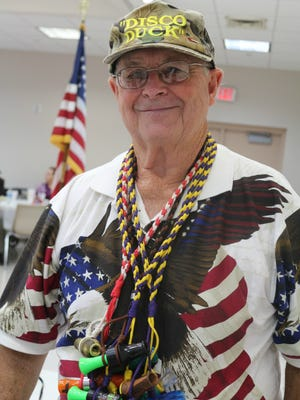 The Rev. Charles Martindale at the annual Veterans day show at the Ouachita Council on Aging in Monroe.