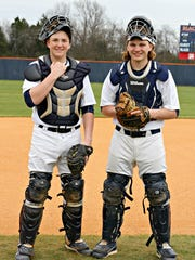 Blackman baseball players and brothers David (left) and Peyton Milam.