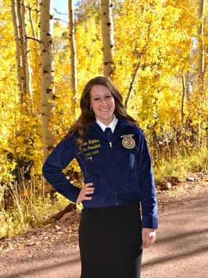 Nicole Hopkins of Canyon View High School was named as the 2015 Utah State FFA President. She will preside over 6,000 high school students in the state of Utah.