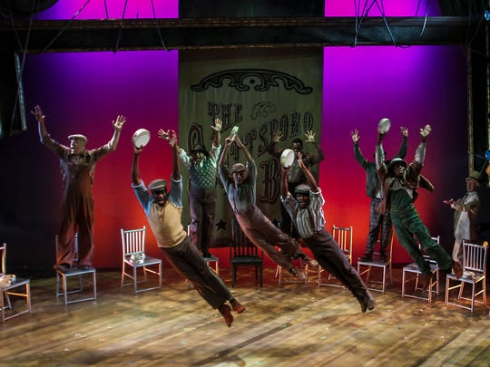 """The cast of Phoenix Theatre's """"The Scottsboro Boys."""""""
