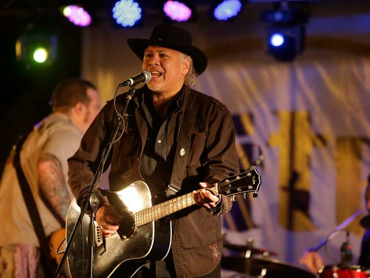 Sam Llanas, formerly of BoDeans, performs at TosaFest Sept. 11, 2015.