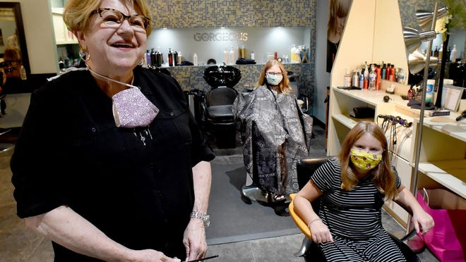 Stylist Darlene Luft is retiring today after working in the Monroe community for 51 years. For the last four years, she has worked at Donna Spa Salon. On Thursday, she cut the hair of sisters Ava, 9, and Emma, 11, Sinnott of Monroe. They are the great-great granddaughters of Luft's first client.