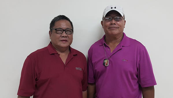 Rudy Palaganas, left, and Ray Manibusan.