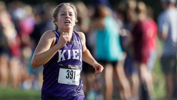 Julia Koenig finishes fifth overall at the Jim Bremser Memorial Cross Country Invite at Mishicot High School on Thursday.