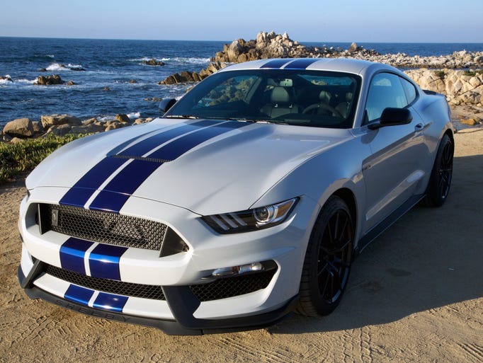 The 2016 Shelby GT350 Mustang is shown.