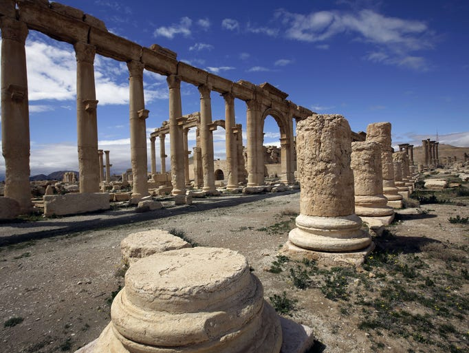Islamic State fighters advanced to the gates of ancient