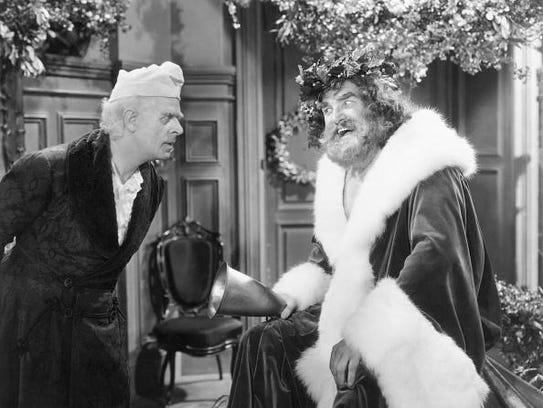 Ebenezer Scrooge and the Spirit of Christmas Present