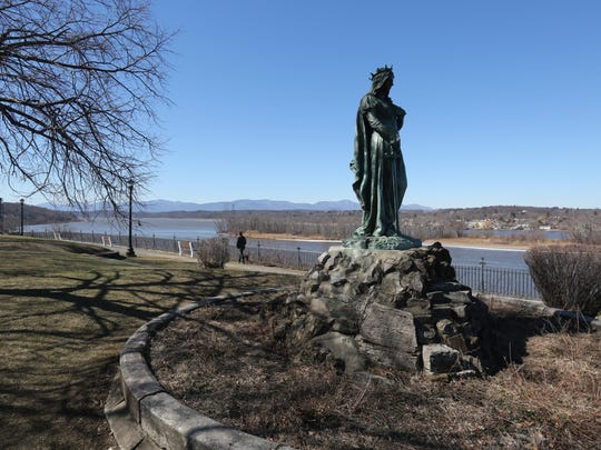 Promenade Park on South Front Street in Hudson, offers views of the Hudson River and the Catskill mountains as seen, March 5, 2017.