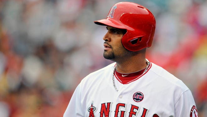 Albert Pujols seeks unspecified damages and asks for a declaration that Jack Clark's statements are false.
