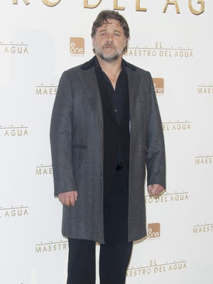 "Russell Crowe attends the ""El Maestro del Agua"" (The Water Diviner) photocall on March 27 in Madrid."