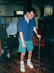 Devries went through intense therapy to regain partial movement of his left side.