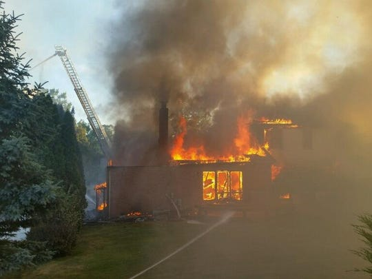 Two homes in the Cedar Springs subdivision were destroyed Saturday by fire.