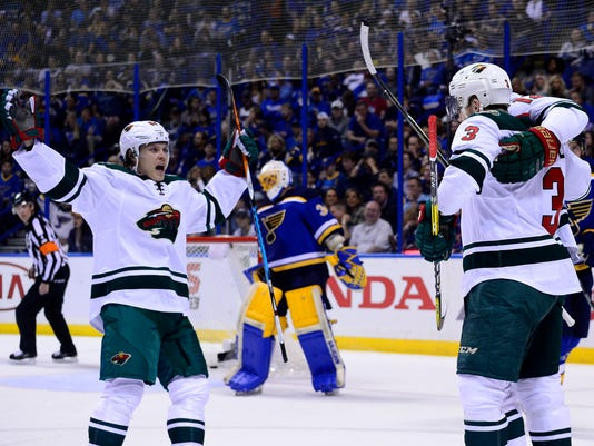 NHL: Stanley Cup Playoffs-Minnesota Wild at St. Louis Blues