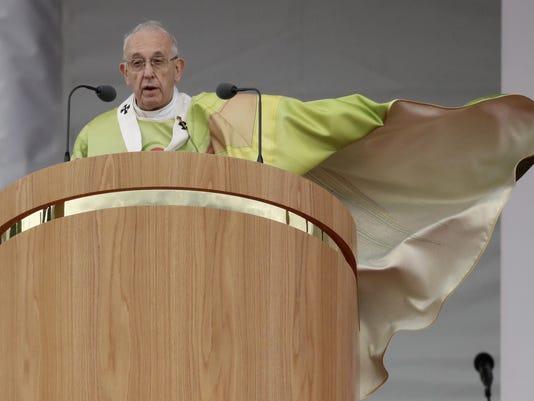 APTOPIX Ireland Pope