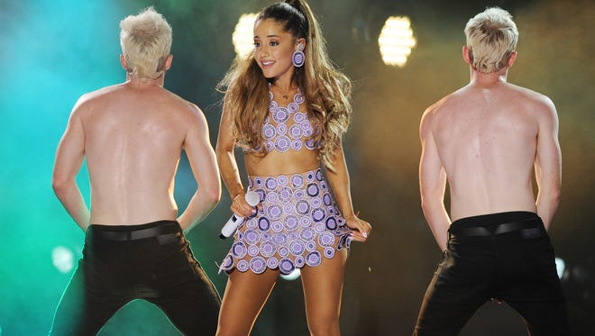 Ariana Grande performs at the iHeartRadio Ultimate Pool Party at Fontainebleau's BleauLive at Fontainebleau Miami Beach, in Miami Beach, Fla., on June 27, 2014. Grande will perform at the MTV Video Music Awards on Aug. 24.