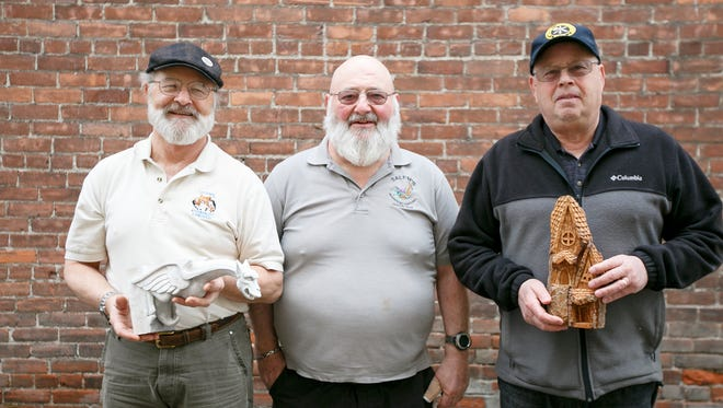 (Left to right) Ray Weekly, Denis Miller and Jack Dalton at Holding Court on Tuesday, March 28, 2017.