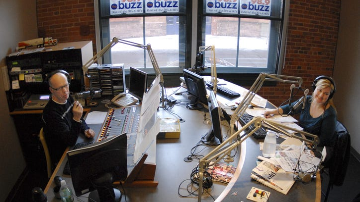 FILE PHOTO: Barry Beck and Kimberly Ray during their morning radio show on 98.9 the Buzz.