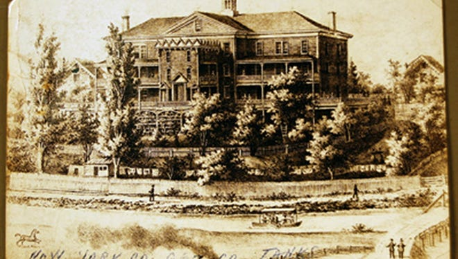 York in 1840s: The Cottage Hill Academy stood tall on the north bank of the Codorus Creek in the vicinity of present-day Dorgan and Zuck's facility, 325 Cottage Hill Road.