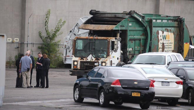 Rochester police made a visit to the recycling center on Lee Road for a report of a body found on Monday, Oct. 4.