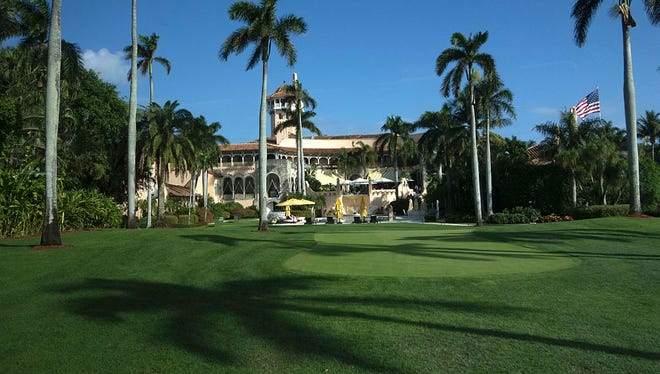 The Mar-a-Lago Club January 1, 2017 at Mar-a-Lago in Palm Beach, Florida. / AFP / DON EMMERT        (Photo credit should read DON EMMERT/AFP/Getty Images)