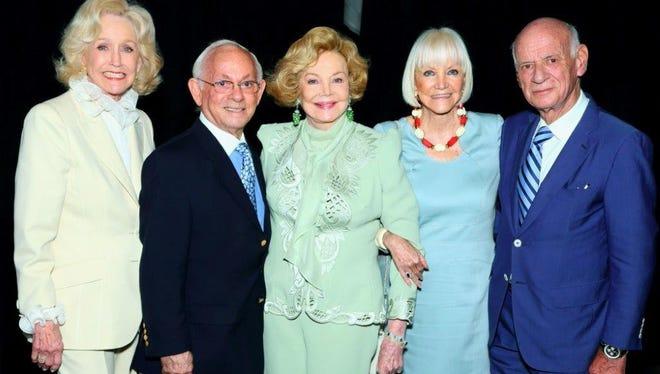 From left, Nelda Linsk, Raphael Sanchez, Barbara Sinatra, Rosemarie Troy and Carlo Goetschel.