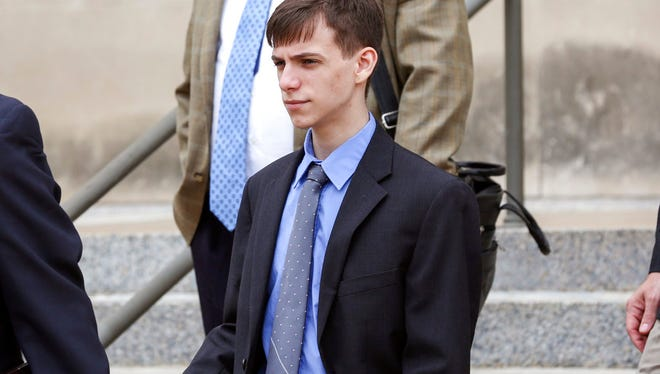 Casey Viner, 18, of North College Hill, one of the three men accused of orchestrating a swatting call that ended with a 28-year-old man being killed by a Wichita, Kan., police officer last December, was in federal court in Wichita on Wednesday, June 13, 2018. Viner pleaded not guilty to several counts of wire fraud, conspiracy, obstruction of justice and conspiracy to obstruct justice.