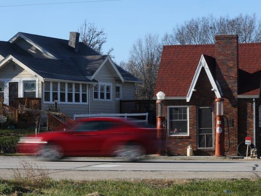 The Hastie Standard Oil Station was opened along the Jefferson Highway route in Warren County in 1933. The building is being renovated as part of a historic preservation project.