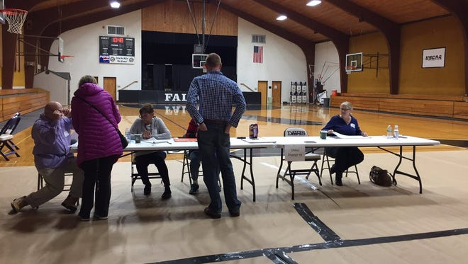 Davis College had a steady voter turnout mid-morning on Tuesday.