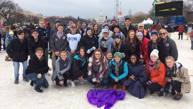 Twenty-seven Central students attended Friday's presidential inauguration in Washington D.C.