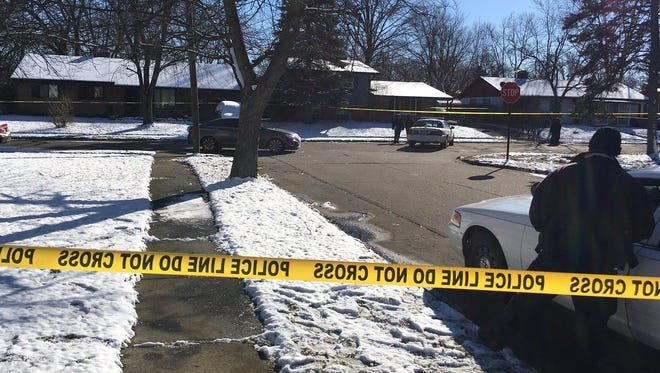 Indianapolis police are investigating a fatal shooting in the 8100 block of East 37th Street Thursday, Feb. 9, 2017.