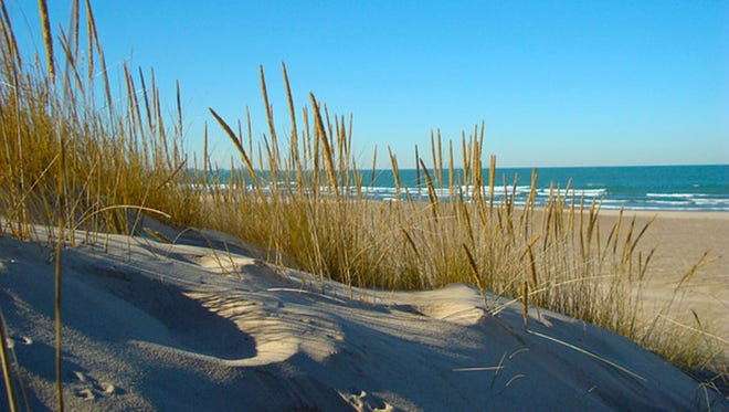 There are 15 miles of dunes and seashore at the Indiana Dunes National Lakeshore and Indiana Dunes State Park.