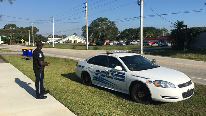 There was increased police presence April 25, 2018, after a gun was reported missing at Kennedy Middle School in Rockledge.