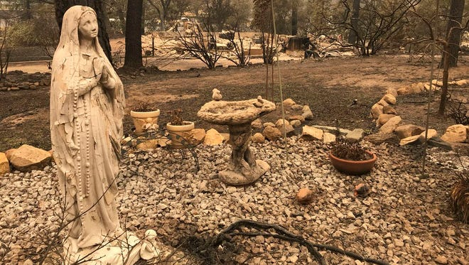 This is what is left in this area after the Carr Fire on July 31, 2018.