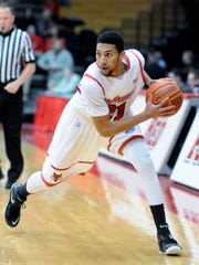 Marist College's Tourron Whitfield looks to make a