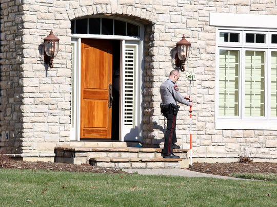 Mason police investigate a home in the Heritage Club subdivision after a 56-year-old woman was found dead on a Monday morning in March.