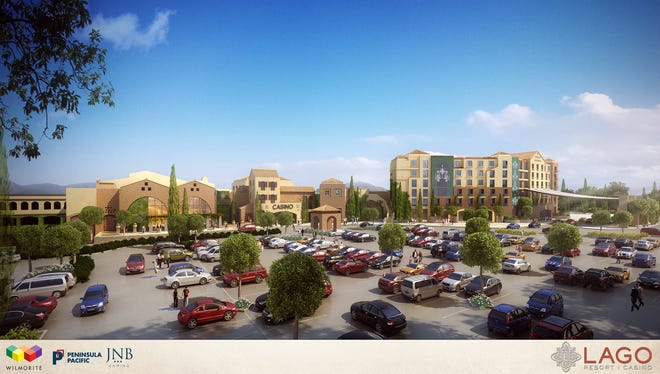 An artist's rendering of the planned Lago Resort & Casino in the Town of Tyre, Seneca County.