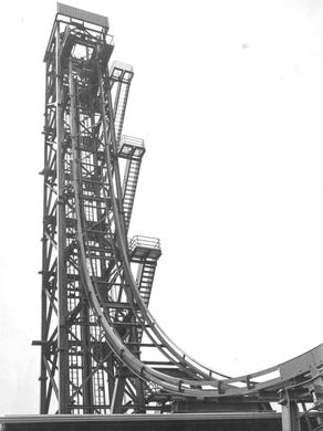 1983: The Freefall ride is pictured.