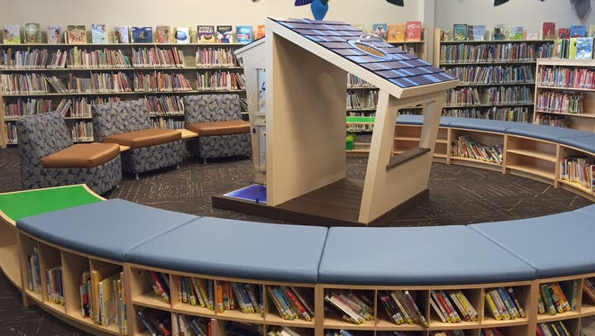 A fun children's area is found in the new Miami Township Branch of the Clermont County Public Library.