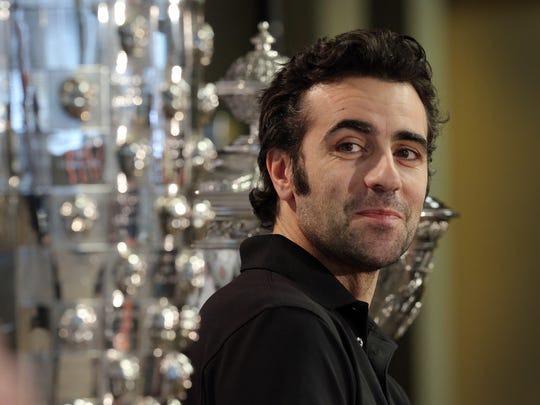 Dario Franchitti, the three-time Indianapolis 500 champion, talks about his decision to retire from racing Thursday during a news conference at Target Chip Ganassi Racing headquarters.