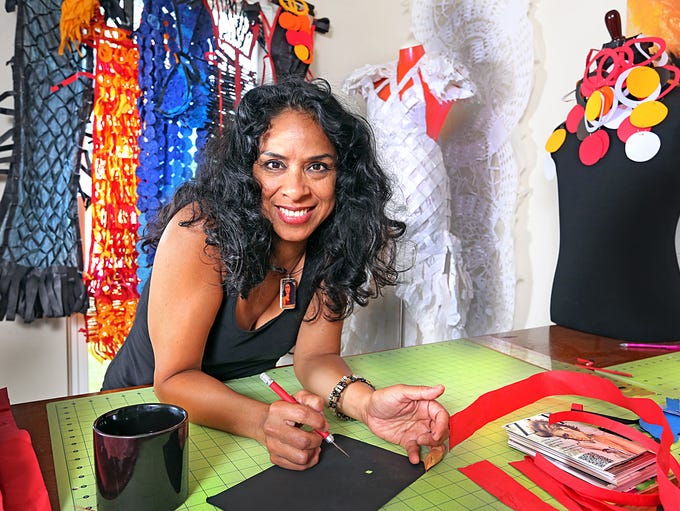 Beatriz Vasquez, a Herron School of Art graduate, proclaims she is self taught in the century old Latino art of Papel Picado. Her workshops in local museums and in Indianapolis Public Schools are inspirational and refelctive of her Latin American culture.