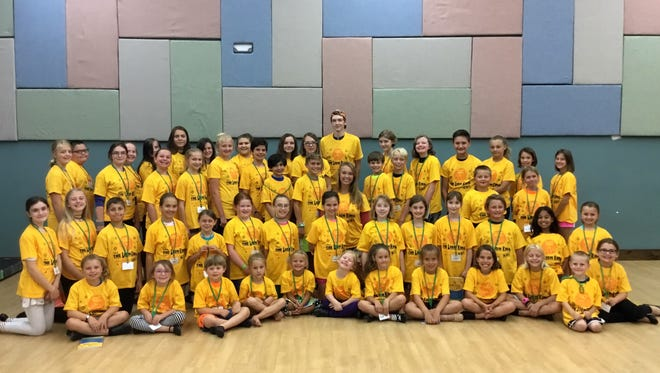"""The cast of Treehouse Theater's """"The Lion King KIDS,"""" running Aug. 4-6 at UW-Manitowoc Theatre."""