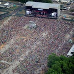Fans at last year's Firefly Music Festival in Dover.