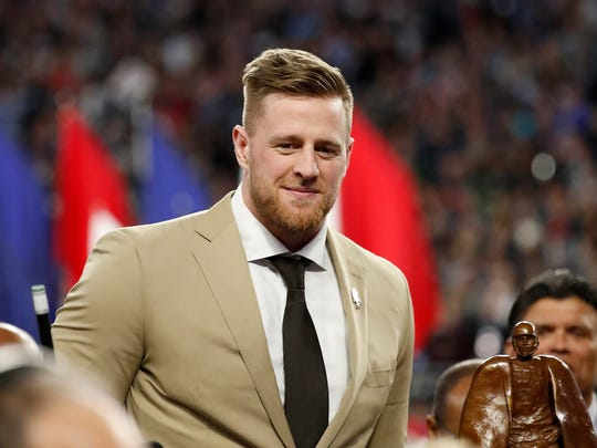 Houston Texans' J.J. Watt, the 2017 Walter Payton NFL Man of the Year Award winner, will be the grand marshal at Sunday's Daytona 500. He is the first NFL player ever to be the grand marshal at racing's big event.