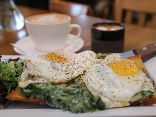 The Eggs Florentine at Dottie Audrey's Bakery & Kitchen in Tuxedo on Wednesday, April 4, 2018.