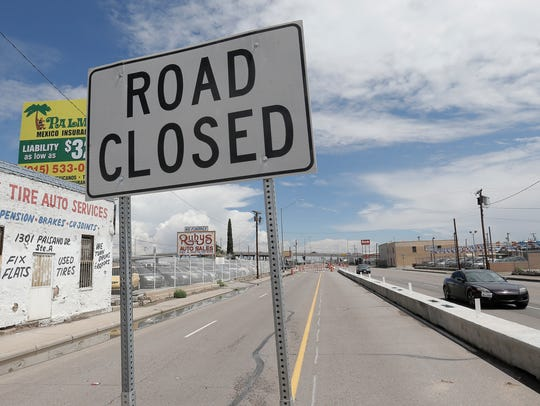 Part of East Paisano is closed in Central El Paso as