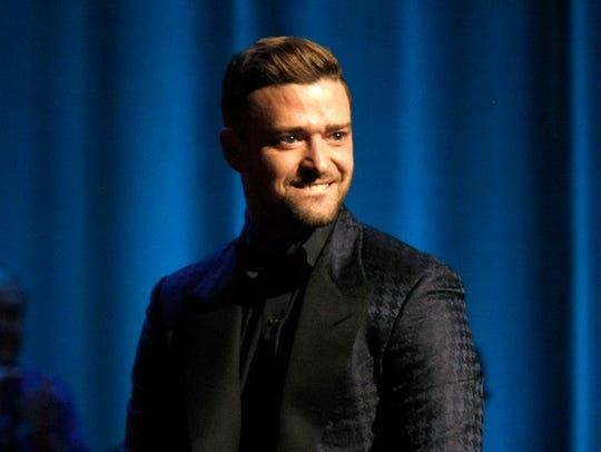 In this Oct. 17, 2015 file photo, singer Justin Timberlake