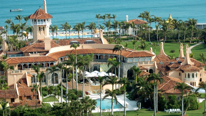 Aerial view of Mar-a-Lago, the oceanfront estate of Donald Trump in Palm Beach, Fla., on Jan. 22, 2005.