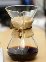 Paul Solt uses a 6-cup Chemex coffee pot in his recipe